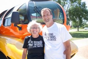 United Way of Dane County CEO Leslie Ann Howard and TASC CEO Dan Rashke.