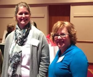 Jennifer Zisser celebrates her graduation with CDO Pam Reynolds.